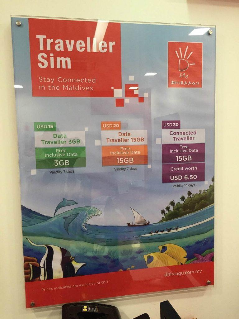 Telefonieren Malediven Sim