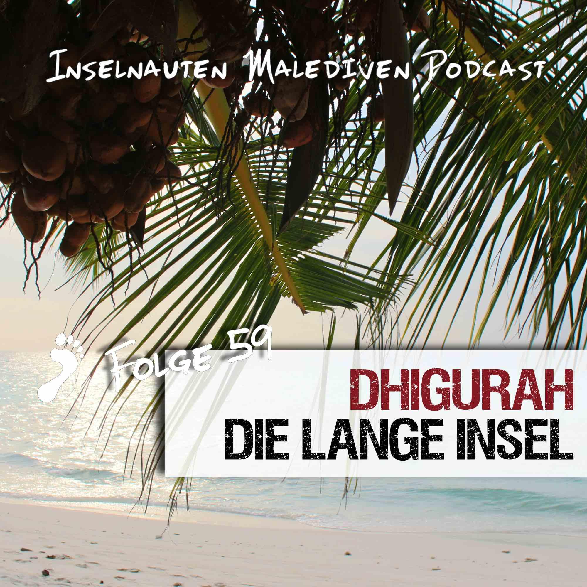 Dhigurah die lange Malediven Insel