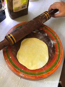 roshi ausrollen chapati
